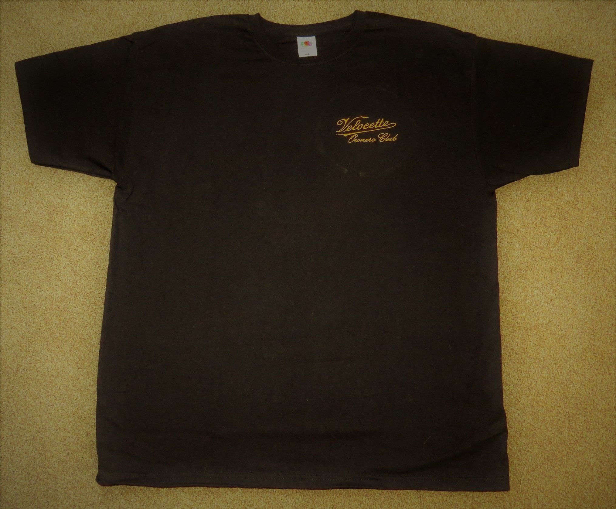 T-Shirt with embroidered Velocette Owners Club Logo