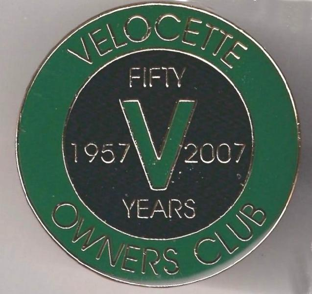 50-year Anniversary Machine Badge