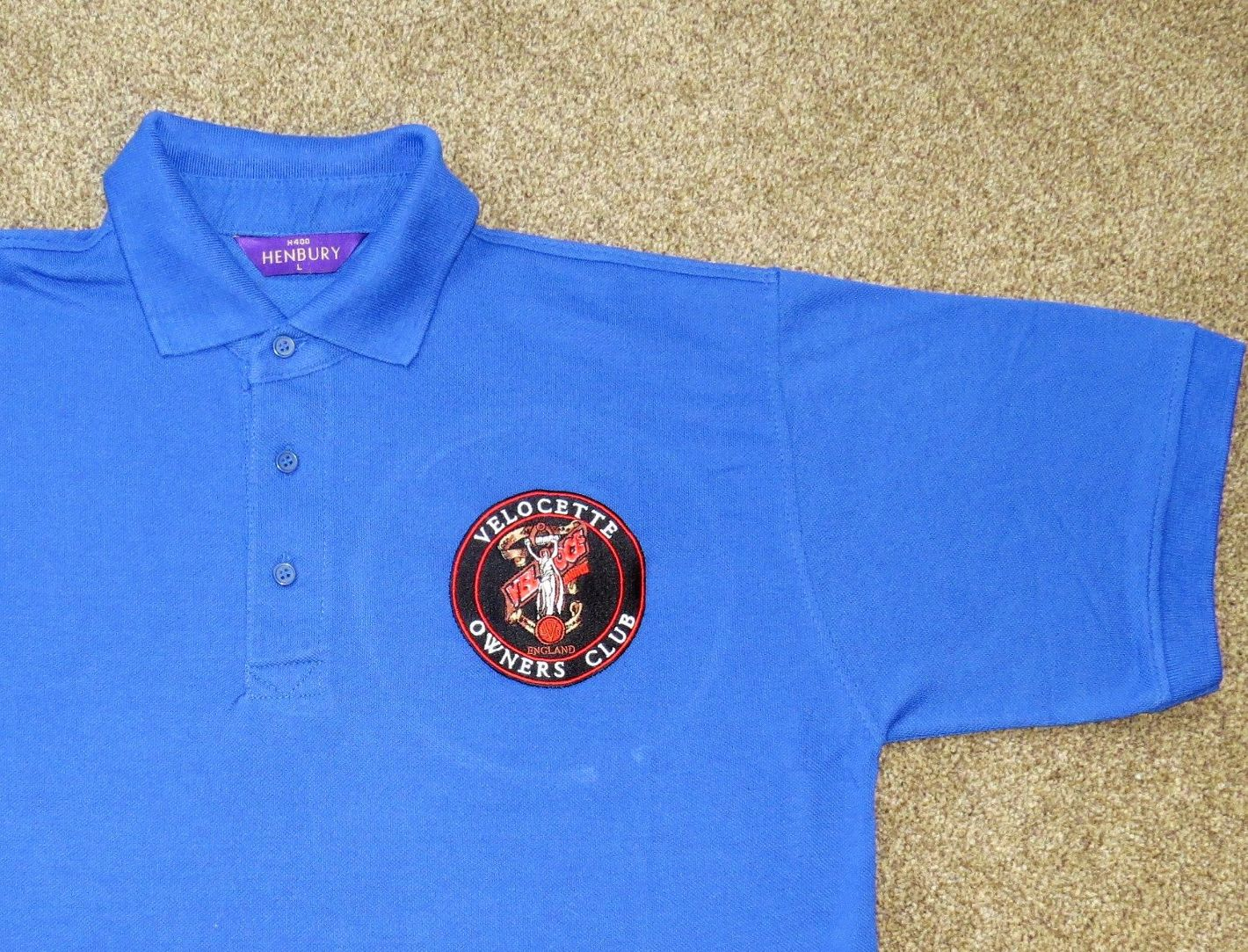 Velocette Owners Club Naked Lady Polo Shirt